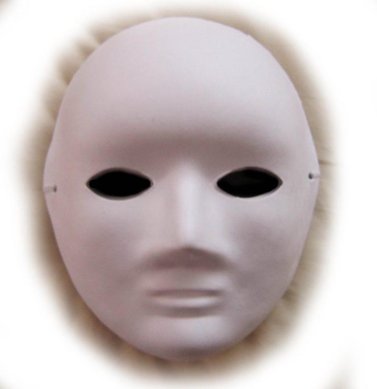 duz beyaz maske