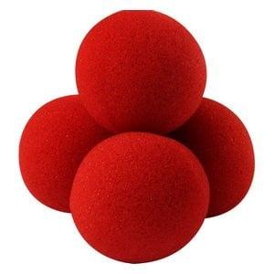 Kırmızı Sünger Top Seti 4lü Süper Yumuşak