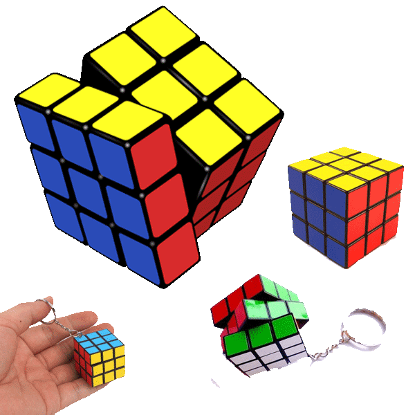 Rubik Küpü Orjinal + Mini Anahtarlık