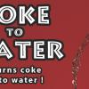 Suya Dönüşen Kola - 200 kullanım - Sihirci
