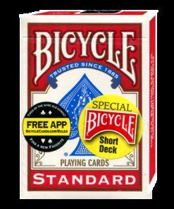 Kısa Kart Destesi - Bicycle Kırmıza