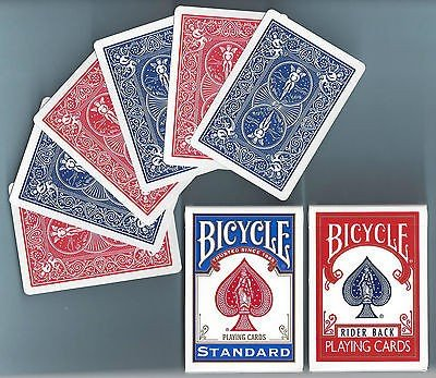 Çift Arka Bicycle Deste - Kırmızı / Mavi